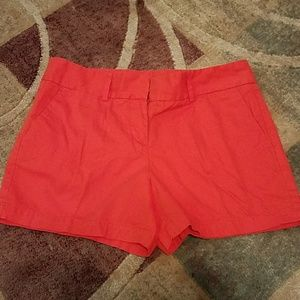 Loft Ann Taylor, Women's Shorts, Orange, Size 4